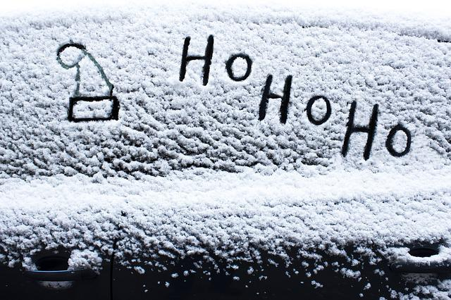 Santa Hat, Snow, Frost, Car Washer, Winter, Cold, Ho