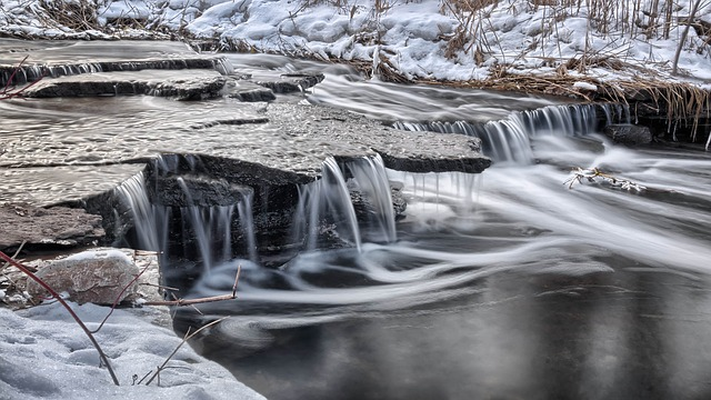 Cold, Creek, River, Snow, Water, Winter