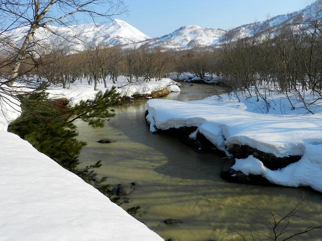 Winter, Snow, River, Stones, Cold, Ice, Nature, Frost