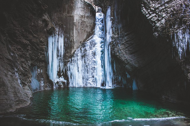 Water, Falls, Liquid, Ice, Solid, Cold, Peace, Vacation