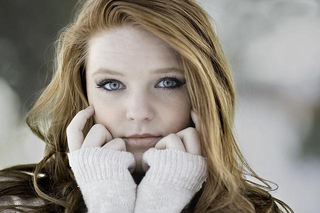 Woman, Girl, Cold, Redhead, Beautiful, Young