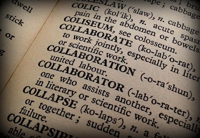 Collaboration, Collaborator, Book, Dictionary, Words
