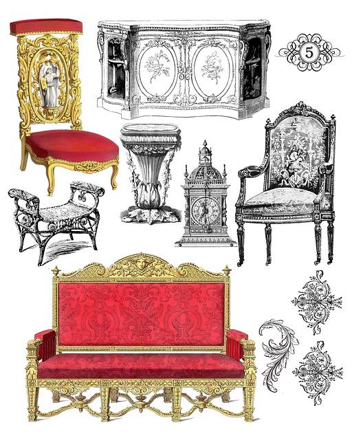 Collage, Vintage, Furniture, Collage Sheet, Antique