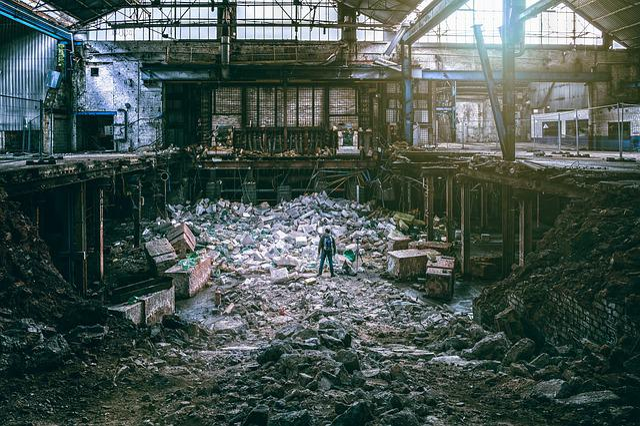 Factory, Demolition, Destruction, Collapse, Chaos