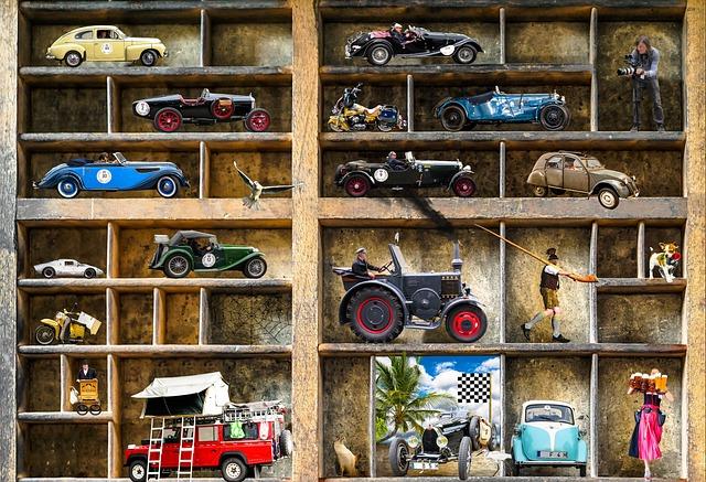Oldtimer, Collection, Model Car, Collector, Automotive
