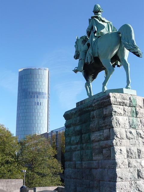 Cologne, Deutz, Triangle, Equestrian Statue