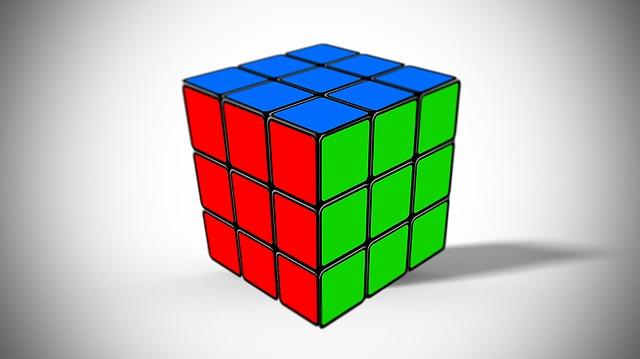 Rubik Cube, 3d, Box, Desktop, Color, Design, Christmas