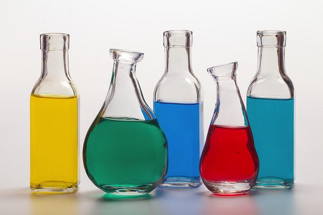Still Life, Bottles, Color, Colored Water