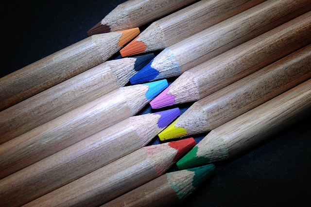 Sharpened, Crayons, Colorful, Color, Colour Pencils