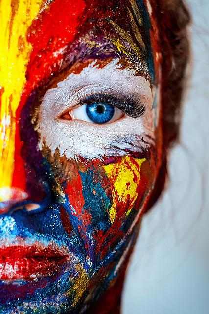 Paint, Makeup, Cracky, Girl, Cosmetics, Brush, Color