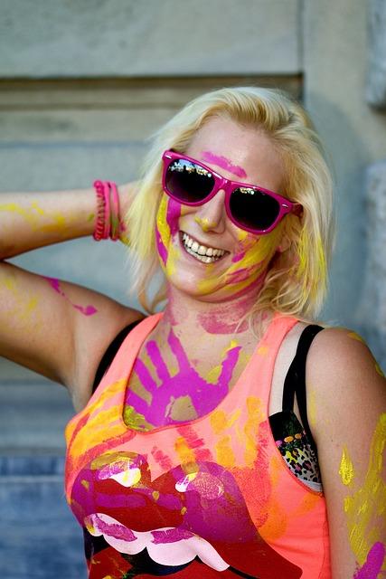 Human, Woman, Portrait, Street Parade, Color Daubers