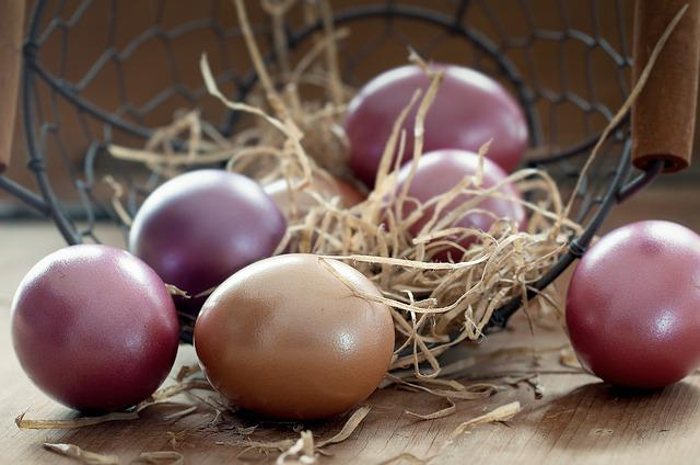 Easter Eggs, Basket, Color, Colored, Egg, Easter