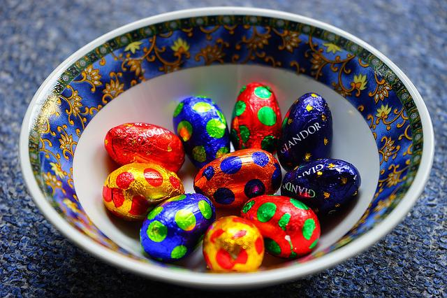 Easter, Easter Eggs, Colorful, Color, Chocolate Eggs