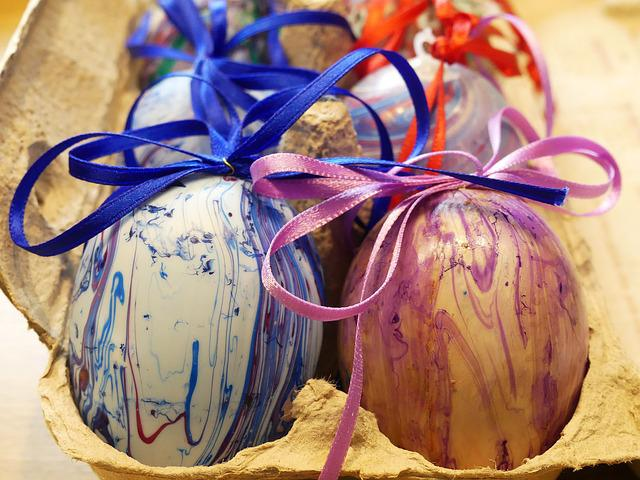 Egg Carton, Colorful Eggs, Colorful, Easter, Color