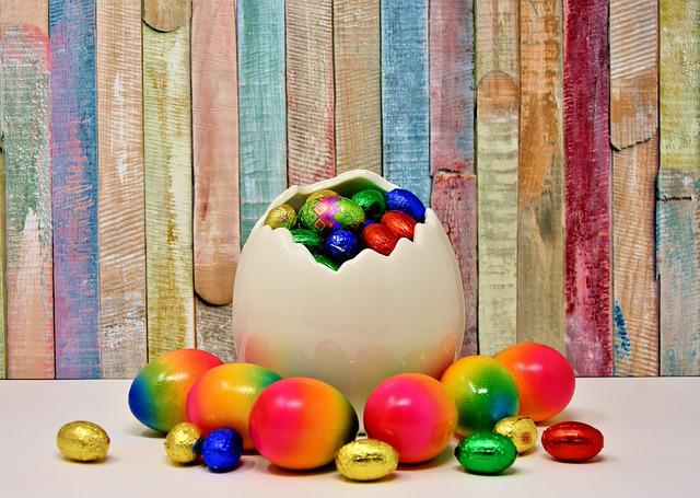 Easter, Easter Eggs, Colored, Colorful, Color