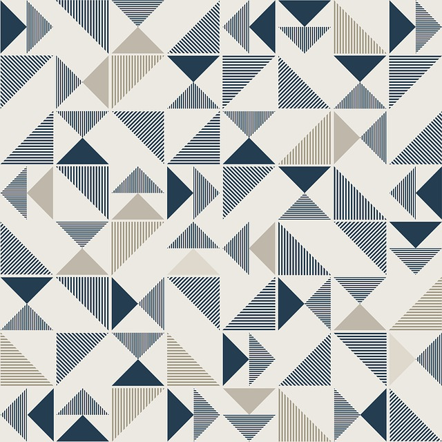 Geometric, Triangle, Modern, Mosaic, Pattern, Color