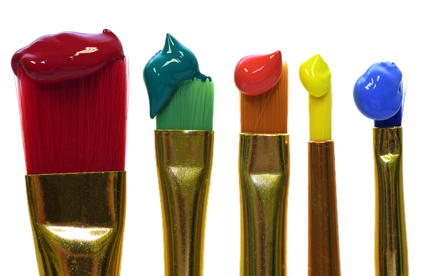 Brush, Color, Colorful, Painting, Red, Green, Orange