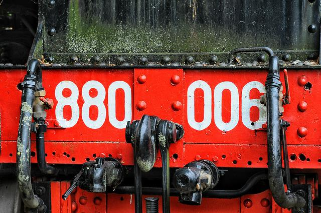 Train, Texture, Iron, Rust, Color, Red