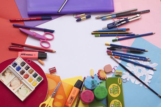 Painting, School, Color, Watercolor, School Supplies