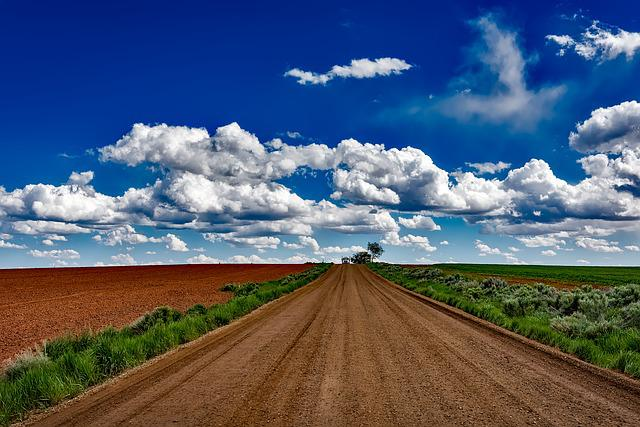 Colorado, Landscape, Dirt Road, Sky, Clouds, Semi Truck