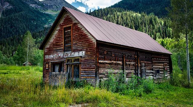 Colorado, Cabin, Log, Abandoned, Weathered, Old, Valley