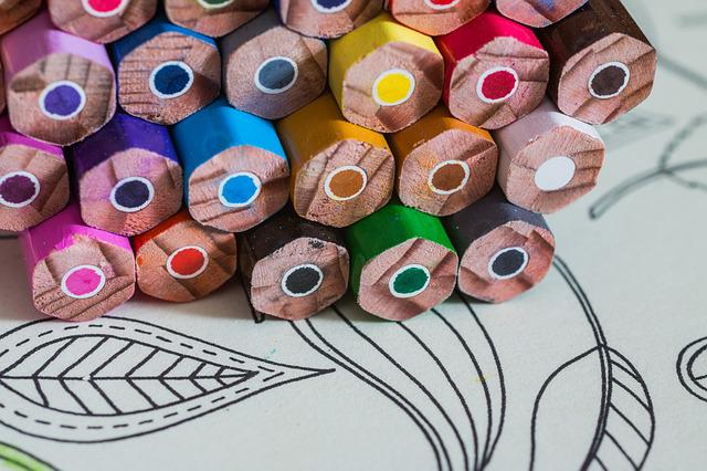 Coloring Book For Adults, Colored Pencils