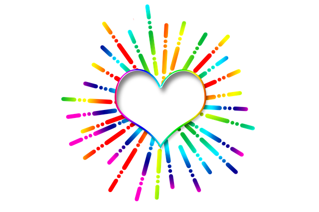 Icon, Star, Heart, Love, Affection, Colorful, Rays