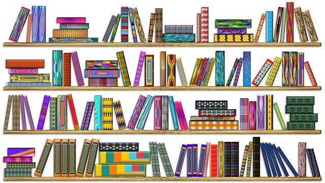 Colorful Books, Colorful Bookshelf, Colorful Bookcase