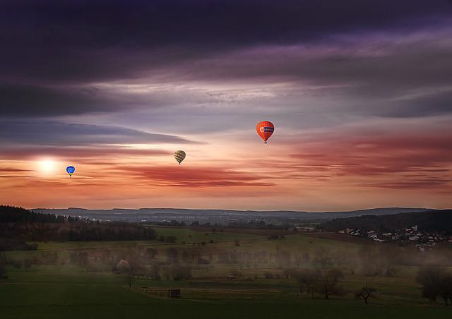 Sky, Hot Air Balloon, Float, Colorful, Bright, Mood