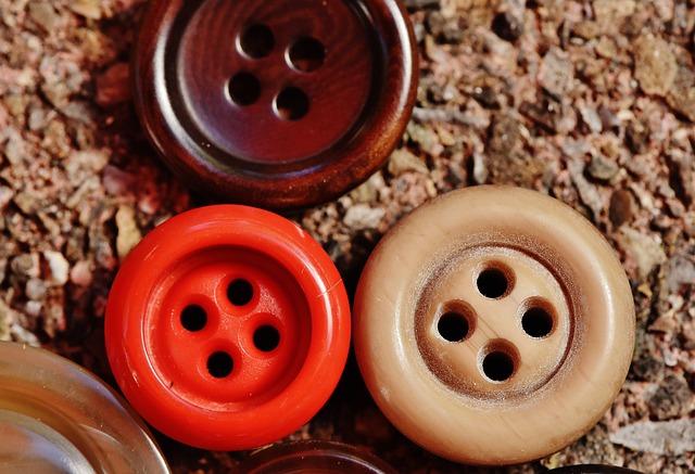 Buttons, 4 Holes, Colorful, Close, Color, Button