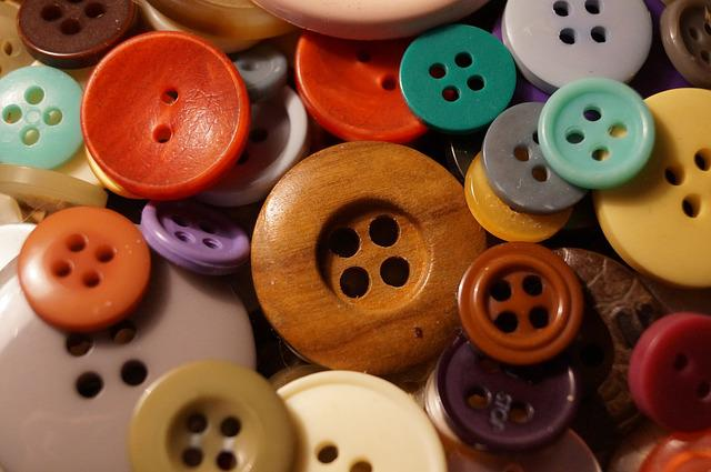Buttons, Colorful, Color, Handarbeiten