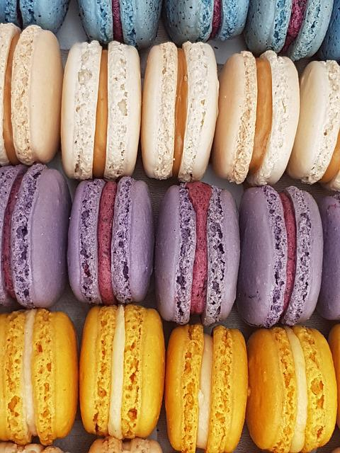 Macaroons, Cakes, Food, Confection, Pastry, Colorful