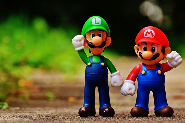 Mario, Luigi, Figures, Funny, Colorful, Cute, Children