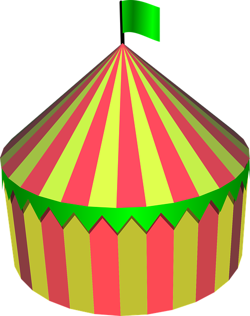 Circus Tent, Circus, Tent, Round, Colorful, Festival
