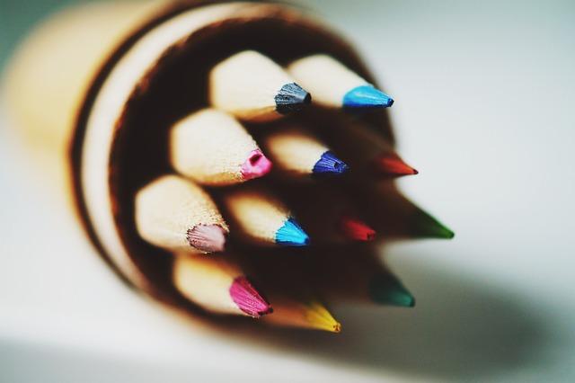 Close-up, Colored Pencils, Colorful, Coloured Pencils