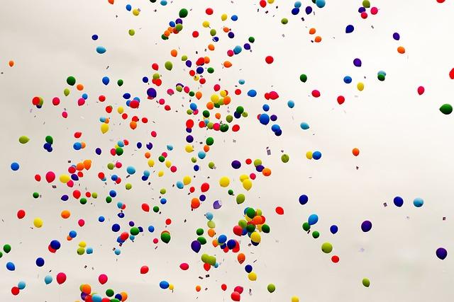Balloons, Celebration, Congratulation, Colorful, Party