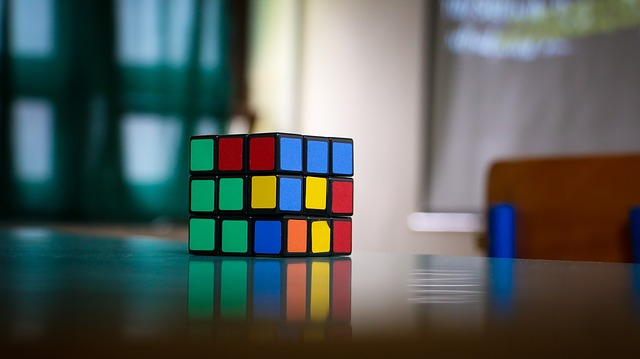 Colorful, Cube, Object, Puzzle, Rubik, Table