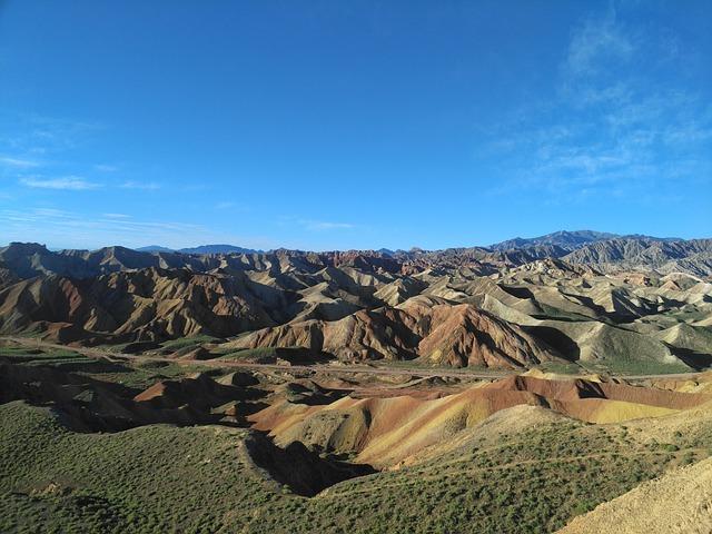 Zhangye, Colorful Danxia, Danxia Landform