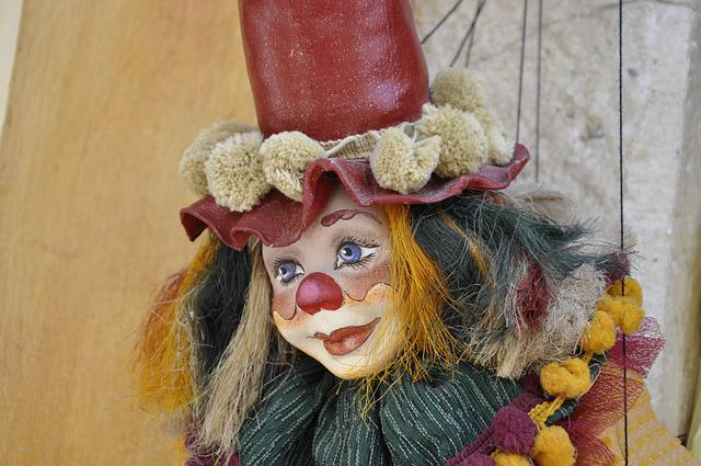 Doll, Clown, Colorful, Children Toys
