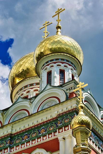 Dome, Spire, Orthodox, Church, Architecture, Colorful