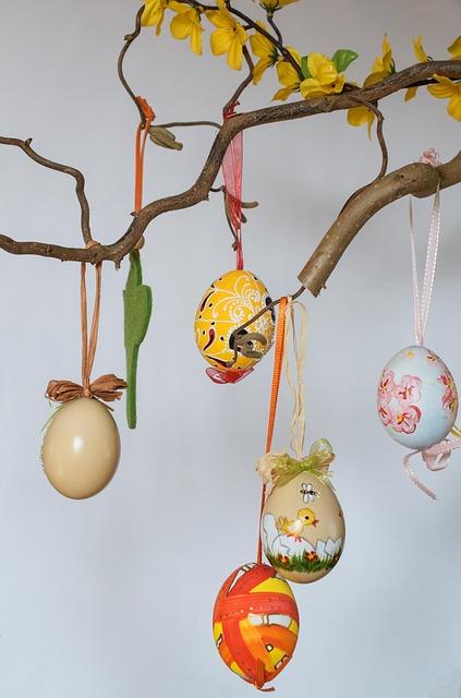 Easter Bush, Egg, Colorful, Easter Eggs