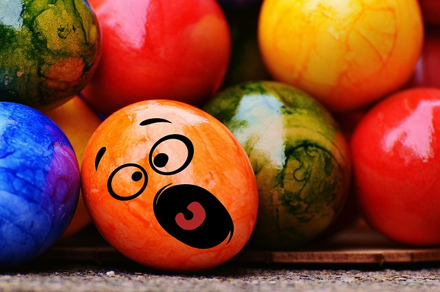 Easter, Easter Eggs, Smiley, Funny, Colorful
