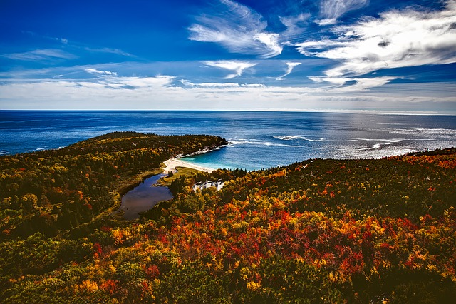 Bar Harbor, Maine, Fall, Autumn, Colorful, Beautiful