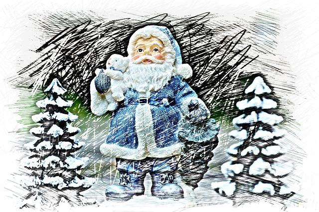 Christmas, Santa Claus, Drawing, Colorful, Fig