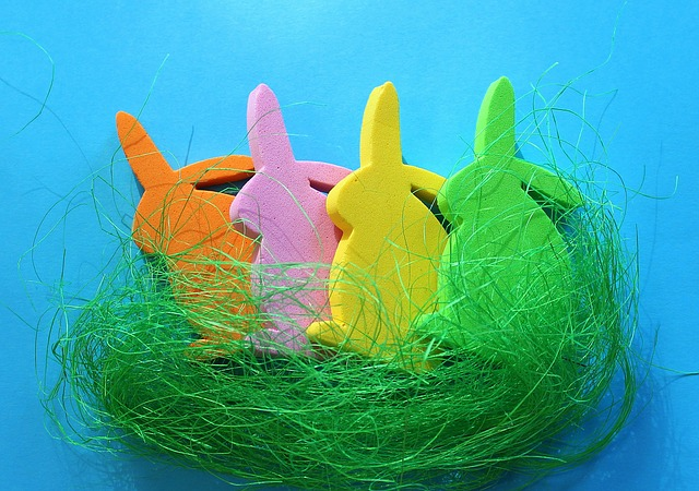Bunnies, Easter, Decoration, Colorful, Color, Figurines
