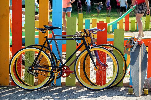 Bicycles, Colorful, Garden Fence, Bike, Colorful Bike