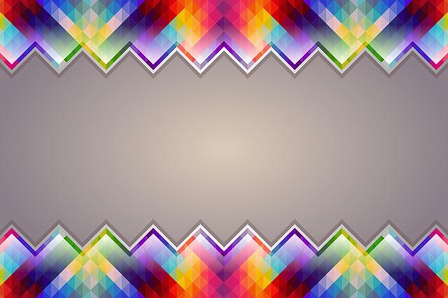 Border, Background, Colorful, Geometric, Triangle
