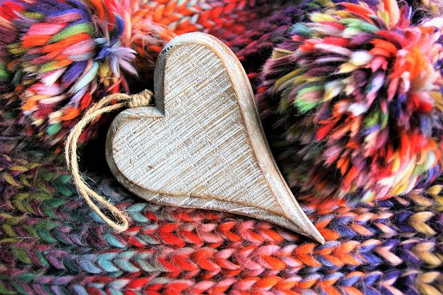 Colorful, Valentine's Day, Heart, Wooden Heart, Weave