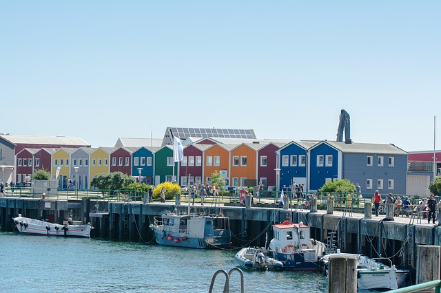 Helgoland, Colorful, Colourful Houses, North Sea