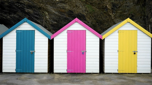 Beach Hut, Colourful, Beach, Hut, Summer, Colorful